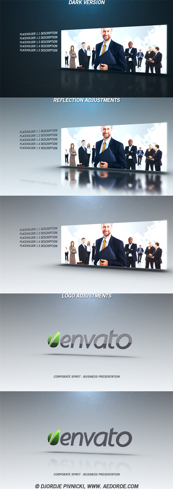 corporate spirit - after effects project