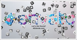 Falling Social Icons Logo Reveal