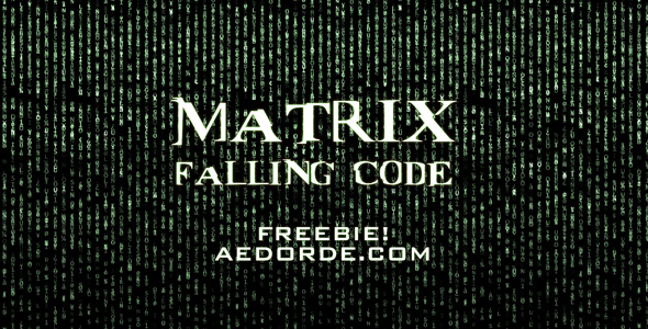 matrix falling code free video
