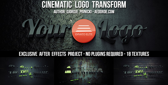 Cinematic Logo Transform - After Effects Project