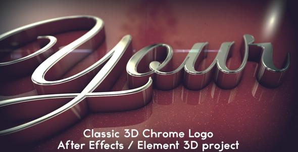 Classic 3D Chrome Logo - Element 3D