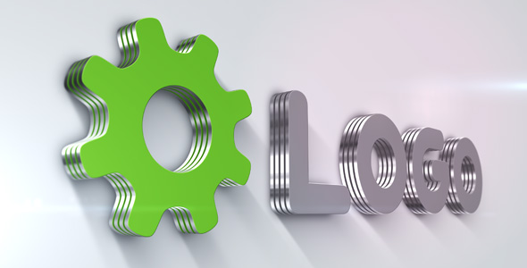 Metallic 3D Logo Animation